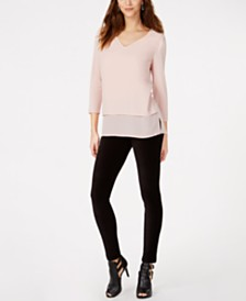 MICHAEL Michael Kors Layered Top & Corduroy Leggings