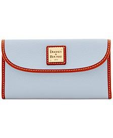 Dooney & Bourke Pebble Leather Continental Clutch