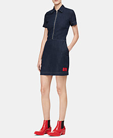 Calvin Klein Jeans Cotton Zip-Front Denim Dress