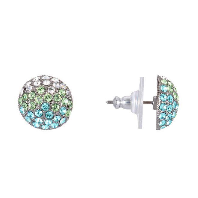 Nina Swarovski Pave Button Small Earring