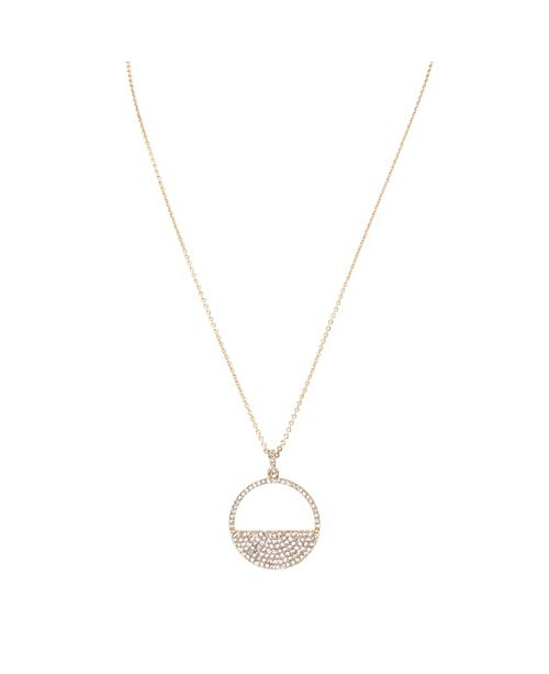 Nina Cut-out Disk Pave Necklace