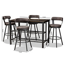 Arcene 5 Piece Pub Set, Quick Ship