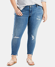 Levi's Ripped Plus Size Skinny Ankle Jeans