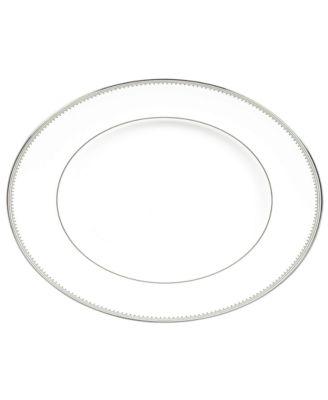 Dinnerware, Grosgrain Medium Oval Platter