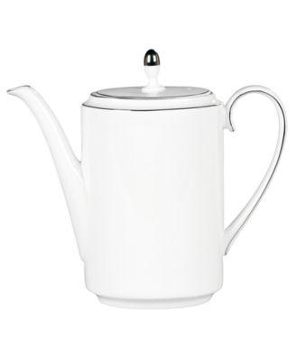 Dinnerware, Blanc sur Blanc Coffee Pot