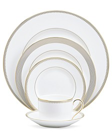 """Golden Grosgrain"" 5-Piece Place Setting"