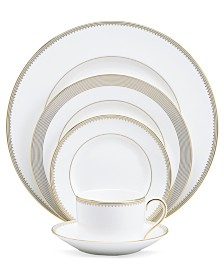 "Vera Wang Wedgwood ""Golden Grosgrain"" 5-Piece Place Setting"