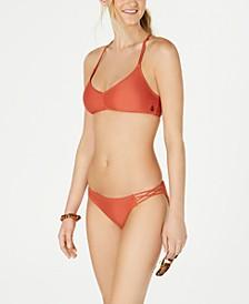 Juniors' Halter Bikini Top & Cheeky Bottoms