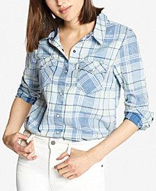 Sanctuary Cotton Plaid Shirt