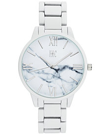 I.N.C. Women's White Rubberized Link Bracelet Watch 38mm, Created for Macy's