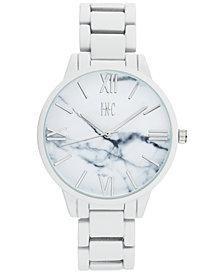 I.N.C. Women's White Rubberized Link Bracelet Watch 38mm, Created for Macy's