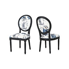 Hiro Floral Print Dining Chairs (Set of 2), Quick Ship