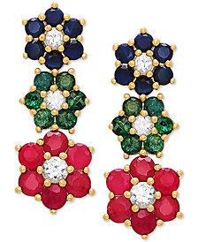 Multi-Gemstone Flower Ear Climbers (2-3/8 ct. t.w.) in 10k Gold
