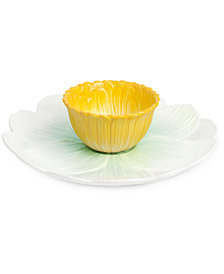 Martha Stewart Collection Floral Chip & Dip, Created for Macy's
