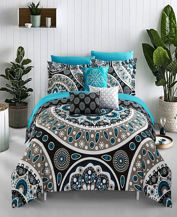 Chic Home Mornington 8 Piece Twin Bed In a Bag Comforter Set