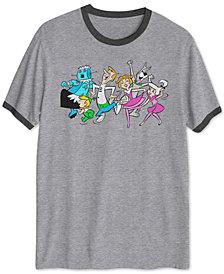 Hanna-Barbera Dancing Jetsons Men's Ringer Graphic T-Shirt