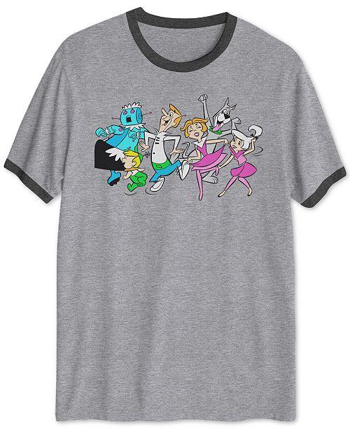 dae4bf9d Hybrid Hanna-Barbera Dancing Jetsons Men's Ringer Graphic T-Shirt ...