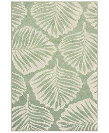 "Barbados 8027Z Green/Ivory 7'10"" x 10' Indoor/Outdoor Area Rug"