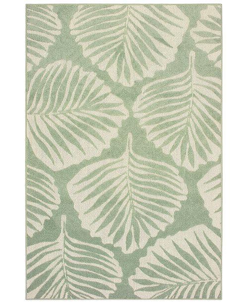 """Oriental Weavers Barbados 8027Z Green/Ivory 3'3"""" x 5' Indoor/Outdoor Area Rug"""