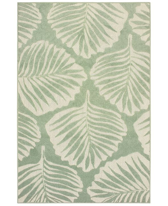 "Oriental Weavers Barbados 8027Z Green/Ivory 6'7"" x 9'6"" Indoor/Outdoor Area Rug"