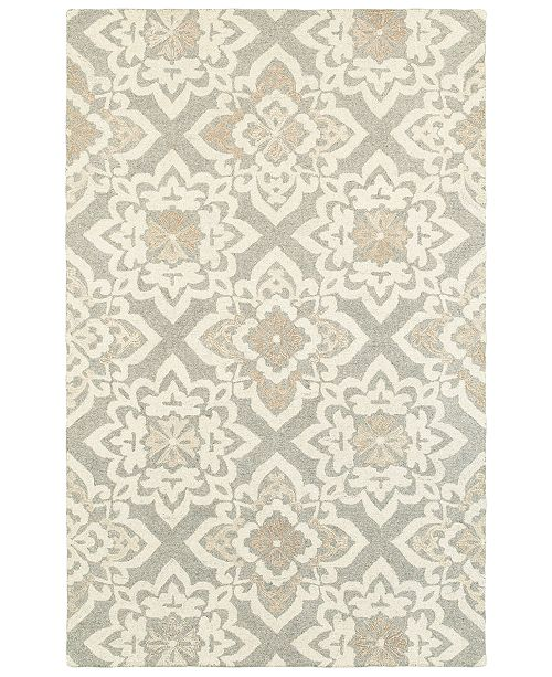 "Oriental Weavers Craft 93004 Gray/Sand 3'6"" x 5'6"" Area Rug"