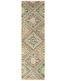 "Oriental Weavers Dawson 8530A Ivory/Multi 2'3"" x 7'6"" Runner Area Rug"