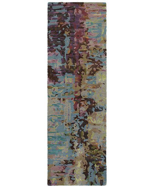 "Oriental Weavers Galaxy 21902 Blue/Multi 2'6"" x 8' Runner Area Rug"