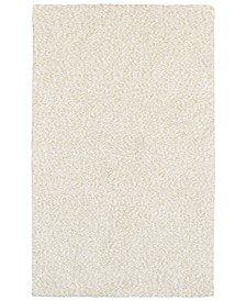 Heavenly Shag 73402 Ivory/Ivory 8' x 11' Area Rug