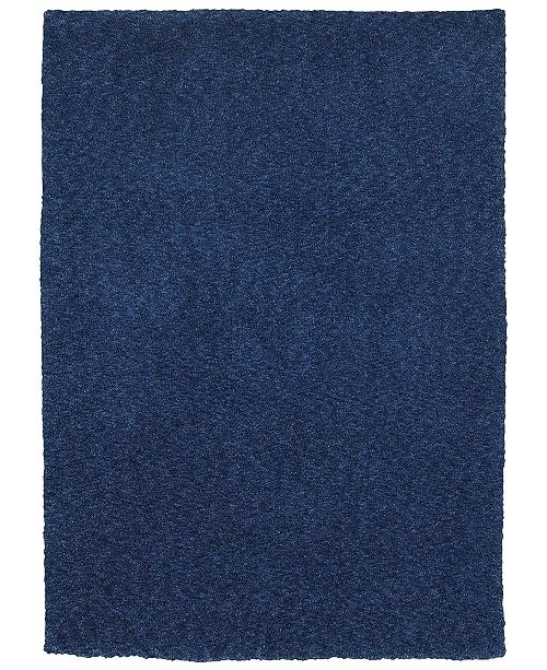 Oriental Weavers Heavenly Shag 73408 Blue/Blue 3' x 5' Area Rug