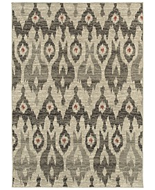 "Highlands 6301E Ivory/Gray 6'7"" x 9'6"" Area Rug"