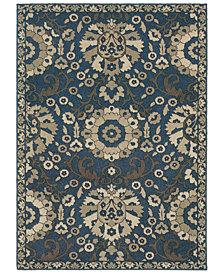 "Oriental Weavers Highlands 6682A Midnight/Beige 7'10"" x 10'10"" Area Rug"