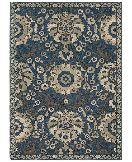 "Oriental Weavers Highlands 6682A Midnight/Beige 9'10"" x 12'10"" Area Rug"