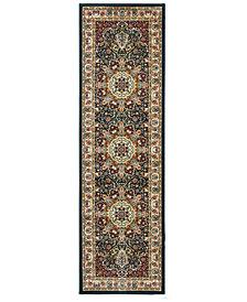 """Oriental Weavers Kashan 119U Navy/Ivory 2'3"""" x 7'6"""" Runner Area Rug"""