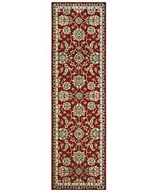 """Oriental Weavers Kashan 370R Red/Multi 2'3"""" x 7'6"""" Runner Area Rug"""