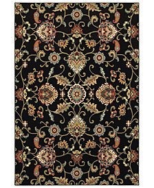 "Oriental Weavers Kashan 9946K Black/Multi 6'7"" x 9'6"" Area Rug"