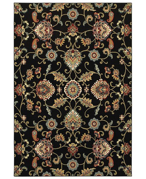 "Oriental Weavers Kashan 9946K Black/Multi 1'10"" x 3' Area Rug"