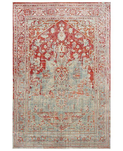 "Oriental Weavers Pandora 1501U Gray/Orange 9'10"" x 12'10"" Area Rug"
