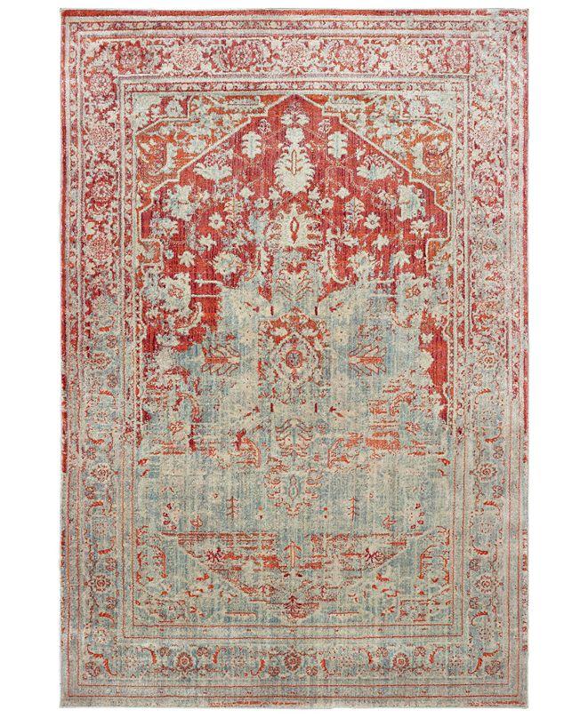 "Oriental Weavers Pandora 1501U Gray/Orange 6'7"" x 9'6"" Area Rug"