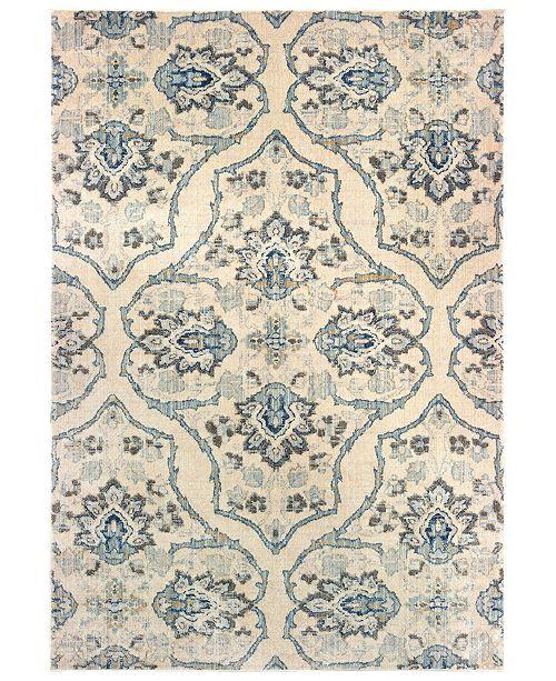 "Oriental Weavers Pandora 5502W Ivory/Blue 3'10"" x 5'5"" Area Rug"