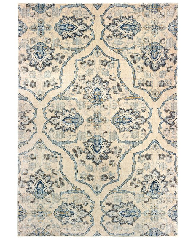 "Oriental Weavers Pandora 5502W Ivory/Blue 5'3"" x 7'6"" Area Rug"
