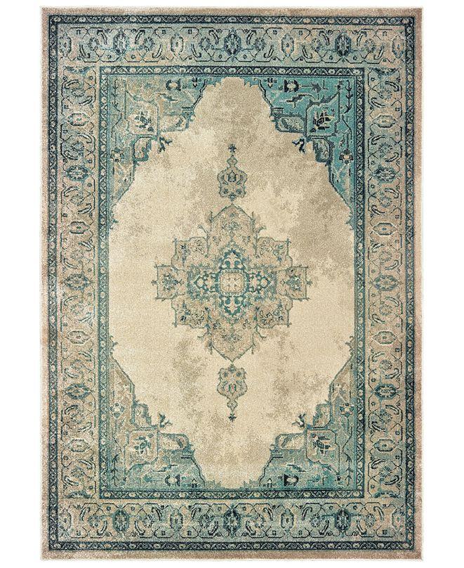 "Oriental Weavers Raleigh 2337W Ivory/Blue 5'3"" x 7'6"" Area Rug"