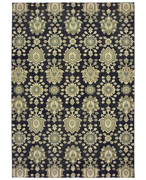 "Oriental Weavers Raleigh 533Q5 Navy/Ivory 3'10"" x 5'5"" Area Rug"