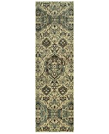 """Oriental Weavers Raleigh 8027J Ivory/Gray 2'3"""" x 7'6"""" Runner Area Rug"""
