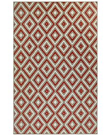 "Riviera 7641 Nested Diamond 7'10"" Indoor/Outdoor Square Area Rug"