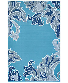 "Liora Manne' Riviera 7648 Ornamental Leaf 1'11"" x 7'6"" Indoor/Outdoor Runner Area Rug"