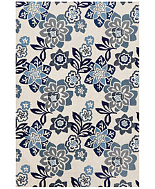 Liora Manne' Ravella 2180 Floral Blue 2' x 8' Indoor/Outdoor Runner Area Rug