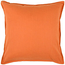 """Rizzy Home Solid Orange 20"""" X 20"""" Pillow Cover"""
