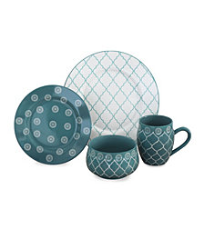 Baum Moroccan 16 Piece Dinnerware Set