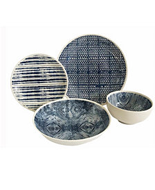 Blue and White 16 Piece Dinnerware Set