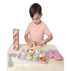 Melissa & Doug Slice and Bake Wooden Christmas Cookie Play Food Set